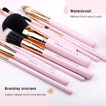 ZOREYA-Makeup-Brush-Set12Pcs-Pink-Gold-Premium-Synthetic-Makeup-Brushes-for-Large-Powder-Foundation-Brush-Eye-Makeup-Brushes-Kit-with-Great-Makeup-SpongeProfessional-Easy-Travel-Vegan-Leather-Holder