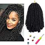 Spring Twist Hair Bomb Twist Synthetic Hair Passion Braiding Mini Twist Hair Extension 8inch 3packs Mirra's Mirror