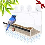 Entirely Zen Superior Window Bird Feeder is the Best Bird Feeder for UP-Close Wild Bird Viewing Right from Your Window, Super Strong Suction Cups, EASIEST Bird Feeders to Clean and Fill, Birds LOVE it