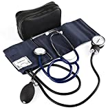 LotFancy Manual Blood Pressure Cuff, Aneroid Sphygmomanometer and Stethoscope Kit with Zipper Case