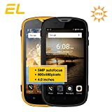 E&L W5S Rugged Unlocked Cell Phones with Waterproof IP68 Dustproof 3G WCDMA Android 6.0 Unlocked Outdoor Smartphones 〖AT&T/T-Mobile 〗 (Yellow) …