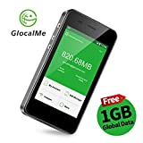 GlocalMe G3 4G LTE Mobile Hotspot, [Upgraded Version] Worldwide High Speed WiFi Hotspot with 1GB Global Initial Data, No SIM Card Roaming Charges International Pocket WiFi Hotspot MIFI Device (Black)