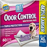 OUT! Odor Control Extra Large Dog and Puppy Training Pads, 26 x 24 inches