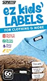 Stick-On Clothing Labels, Supiritiv All Purpose Ez Kids' and Adult's Labels, Stick-On No-Iron, Writable, Washer & Dryer Safe, 60 Labels (1)
