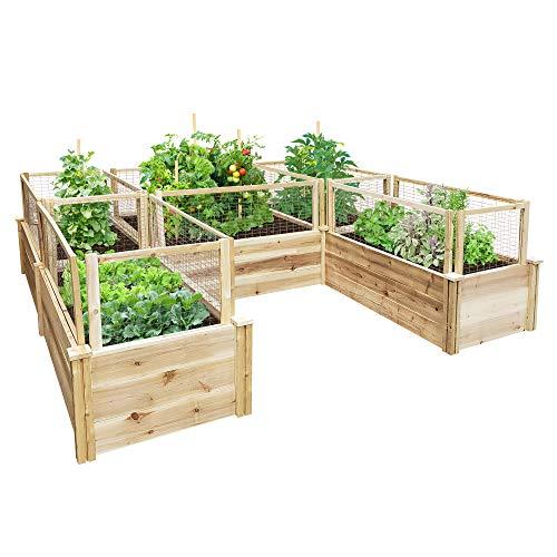 Greenes Fence Premium Cedar Raised Garden Bed U-Shaped Bed