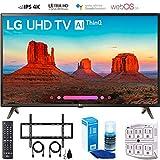 LG 49UK6300 49' UK6300 Smart 4K UHD TV (2018) with Wall Mount + Cleaning Kit (49UK6300PUE)