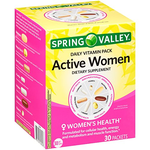 Spring Valley Active Women Daily Vitamin Pack Dietary Supplement 30 ct Box