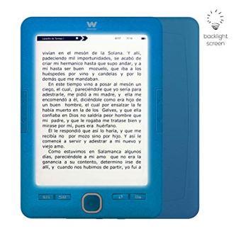 """Woxter Scriba 195 Paperlight Blue – Lector de Libros Electrónicos de 6 """"(1024 x 758, E-ink pearl, Pantalla RETROILUMINADA, EPUB, PDF, Micro SD, guarda más de 4000 libros, Textura engomada) Color Azul"""