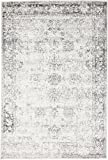 Gray 4' x 6' FT Canterbury Rug Modern Traditional Vintage Inspired Overdyed Area Rugs