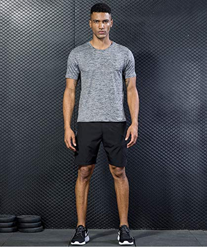 5 Pack Men's Active Quick Dry Crew Neck T Shirts | Athletic Running Gym Workout Short Sleeve Tee Tops Bulk 16 Fashion Online Shop gifts for her gifts for him womens full figure