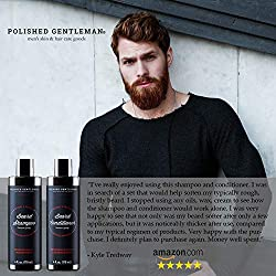 Beard Growth Shampoo and Conditioner Set - Best Organic Face Soap with Biotin & Tea Tree - Best Beard Wash with Beard Oil - Facial Hair Growth Kit for Men - Rapid Hair and Beard Growth - Made in USA  Image 2