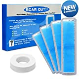 ScarOut! Silicone Scar Sheets for Scar Removal (2 Month Supply) - C Section Recovery Scar Treatment, Keloid Scar Removal and more! - 5x Silicon Sheets For Scars in two sizes - Scar Gel Silicone Tape