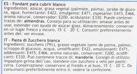FunCakes Pasta di Zucchero Bianca - pacco da 5 Kg