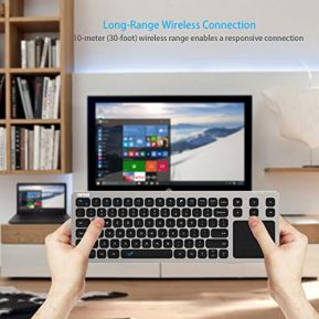 Wireless-Keyboard-Arteck-24G-Wireless-Touch-TV-Keyboard-with-Easy-Media-Control-and-Built-In-Touchpad-Mouse-Solid-Stainless-Ultra-Compact-Full-Size-Keyboard-for-TV-Connected-Computer-Smart-TV-HTPC