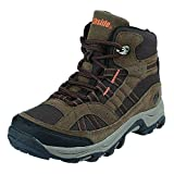 Northside Unisex Rampart MID Waterproof Hiking Boot, Brown, 2 Medium US Little Kid
