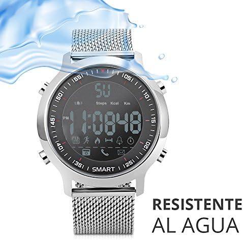 516L4sJbGeL. AC  - Redlemon Smartwatch Reloj Inteligente Sport con Pantalla Digital, Resistente al Agua, Notificaciones de Llamadas, Redes Sociales y Mensajería, Funciones Deportivas, Podómetro, Hasta 6 Meses de Batería #Amazon