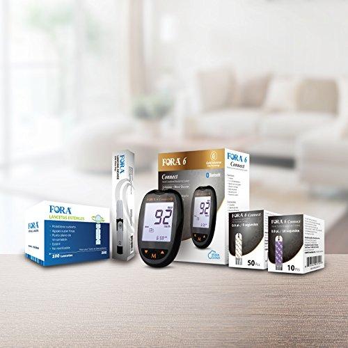 FORA 6 Connect Blood Ketone and Blood Glucose Testing Meter Kit