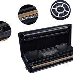 AmazonBasics, Macchina sigillatrice per sottovuoto, Larghezza di sigillatura 30 cm,10 sacchetti per sottovuoto inclusi…