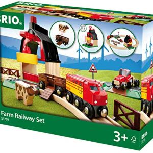 BRIO 33719 Farm Railway Set | Toy Train Set for Kids Age 3 and Up 516PaWSlmvL