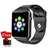 Smart Watch, Janker Bluetooth Smartwatch Unlocked Watch Phone with SIM Card Slot Camera Pedometer Touch Screen Music Player Smart Wrist Watch Android iOS Phone Compatible for Men Kids