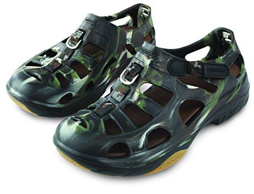 SHIMANO Evair Marine Fishing Shoes, Size 05, Camo