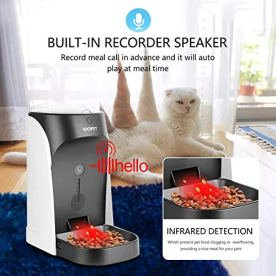 WOPET-Automatic-Cat-Feeder-Pet-Feeder-Auto-Dog-Cat-FeederPortion-Control-Voice-Recording--Timer-Programmable-Up-to-4-Meals-a-Day