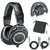 Audio-Technica Professional Studio Headphones Black (Renewed)