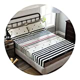 Single Size 100% Cotton Fitted Sheet Bed Sheet Bed Set Mattress Cover 120/140/150/160X200cm sabanas,Fitted Sheet 8,120cmX200cm 3pcs