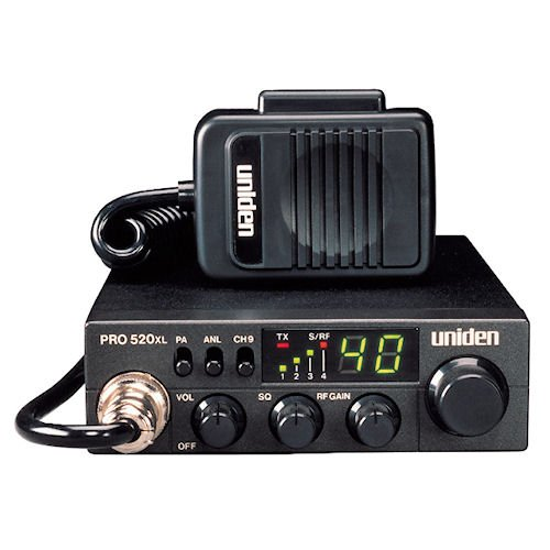 Uniden PRO520XL Pro Series 40-Channel CB Radio, Compact Design, ANL Switch and PA/CB Switch, 7 Watts of Audio Output and Instant Emergency Channel 9