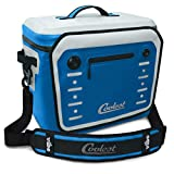 Coolest Vibe Premium Soft-Sided, Insulated, Waterproof Portable Cooler with Fliplock Magnetic Latch and Universal Mount - Perfect for The Beach, Biking, Boating, Camping, tailgaiting (30 Can, Blue)