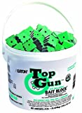 JT Eaton 750 Top Gun All Weather Rodenticide Bait Block Bromethalin Neurological Bait with Stop-Feed Action and Bitrex, for Mice and Rats (Pail of 128)