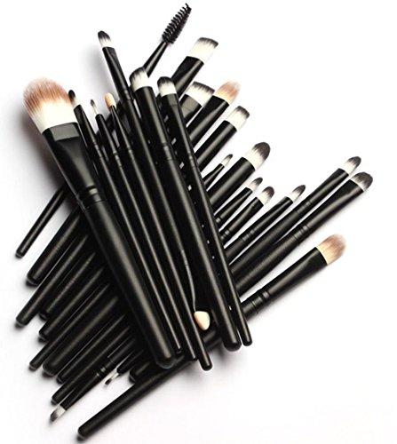 KOLIGHT 20 Pcs Pro Makeup Set Powder Face Foundation Eye shadow Eyeliner Lip Cosmetic Brushes