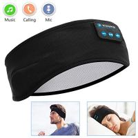 Sleep Headphones Bluetooth, Voerou Wireless Headband Headphones Sports Sweatband with Ultra-Thin HD Stereo Speakers for…