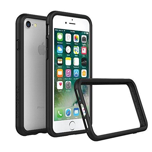 RhinoShield Ultra Protective Bumper Case [ iPhone 8/7 ] CrashGuard, Military Grade Drop Protection for Full Impact, Slim, Scratch Resistant, Black