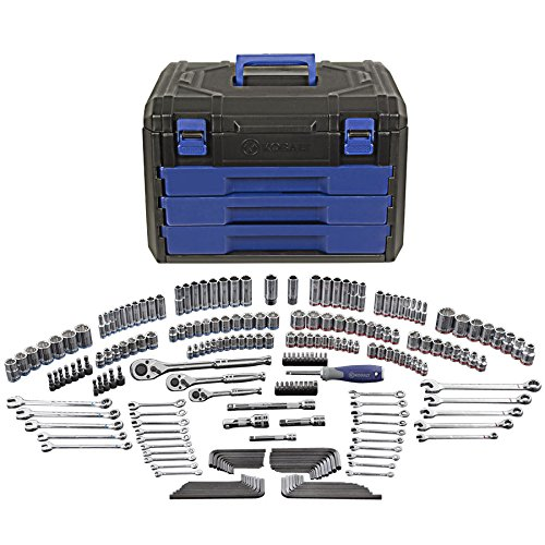 Kobalt 227-Piece Standard/Metric Mechanics Tool Set with Case 86756