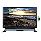 AXESS TVD1804-24 24' HD TV/DVD Combo with External Soundbar Speaker, SD Card, AC/DC Power, HDMI Port, Remote Control