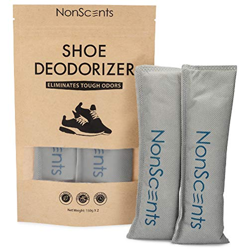 NonScents Shoe Deodorizer - Odor Eliminator, Freshener for Sneakers, Gym Bags, and Lockers