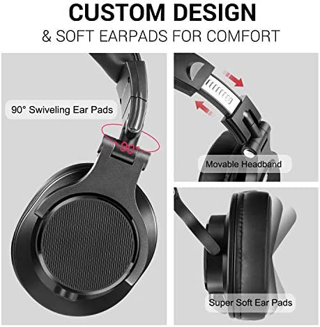 bopmen Computer Headset with Microphone - Wired Gaming Headphones with Boom Mic, On-Line Volume Control & Share-Port Over Ear Headsets for Office PC Laptop Phone Call PS4 Xbox One DJ 17