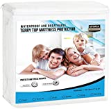 Utopia Bedding Premium Waterproof Mattress Protector - Breathable Fitted Mattress Cover (Full)