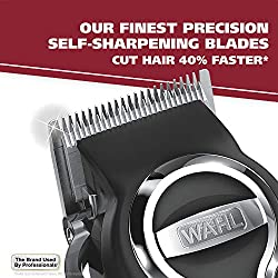 Wahl Clipper Elite Pro High Performance Haircut Kit for men, includes Electric Hair Clippers, secure fit guide combs with stainless steel clips - By The Brand used by Professionals #79602  Image 2