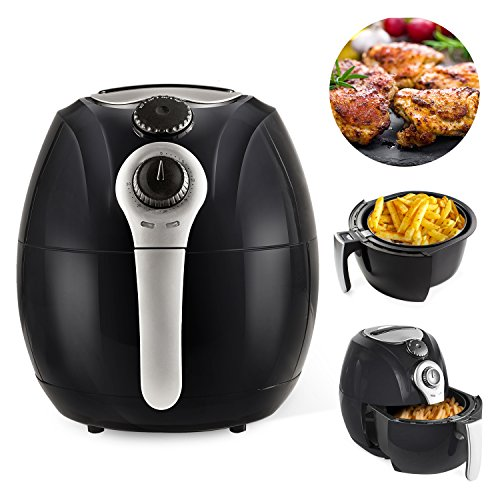 Simple Chef Air Fryer - Air Fryer For Healthy Oil Free Cooking - 3.5 Liter Capacity w/ Dishwasher Safe Parts