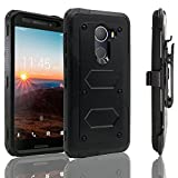 Alcatel A30 Fierce 2017 Case,Alcatel A30 Plus Walters Case, Alcatel REVVL Case ,Heavy Duty Shockproof [Kickstand] [Belt Swivel Clip] Dual-Layer Full-Body Armor Rugged Protection Case (Black)