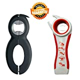Bottle Can and Jar Opener Multi Kitchen Tool Bundle Rheumatoid Arthritis Products Aids Twister Grip Lid Seal Remover Lid Twist Off For Arthritic Hands Kitchen Gadgets and Tools Set