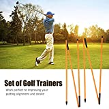 SOULONG Golf Swing Trainer, Golf Training Aid Swing Trainer Practice Tool Training Equipment Golfing Accessory, Golf Swing Trainer Aid