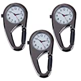 Product review of Set of 3pcs Unisex Metal Clip On / Fob / Pocket Watches With Carabineer For Workout / Outdoor Sports