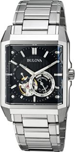 Bulova Men's Automatic-self-Wind Watch with Stainless-Steel Strap, Silver, 24 (Model: 96A194)