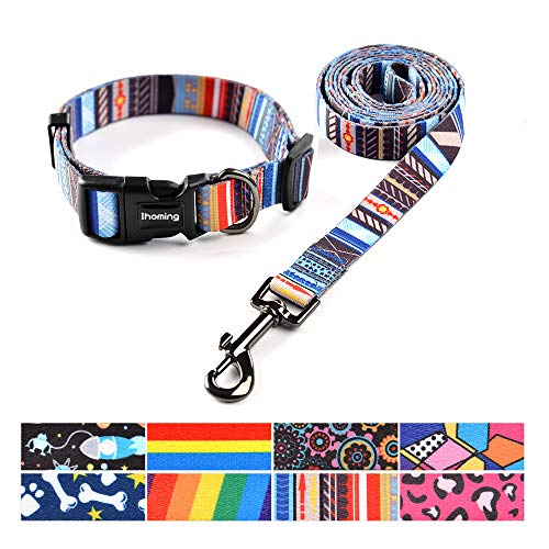 Ihoming Pet Collar Leash Set Combo Safety Set for Daily Outdoor Walking Running...