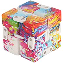 Infinity Cube Fidget Toy - Pressure Reduction Anxiety Relief Toy Killing Time for ADD, ADHD, Anxiety, and Autism Adult and Children (Colorful)