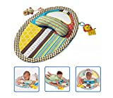 4 in 1 Tummy Time Baby Play Mat with Mirror & Pillow for Infants Toddlers Non-Toxic Waterproof Easy-to-Clean Activity Center for Newborns Engaging Fun Toys for Stimulation Growth 22'34'