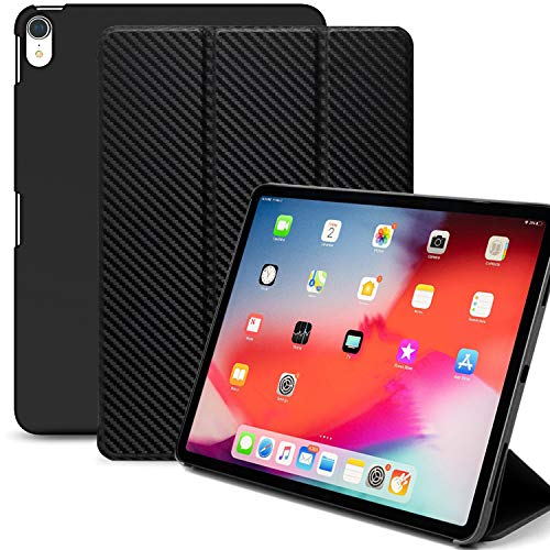 KHOMO iPad Pro 11 Inch Case (Released 2018) - Dual Super Slim Cover with Rubberized Back and Smart Feature (Carbon Fiber)